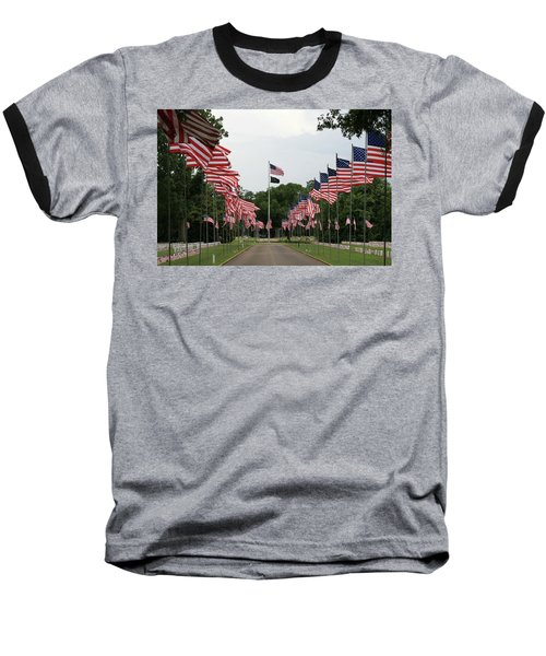 Andersonville National Cemetery Baseball T-Shirt by Jerry Battle