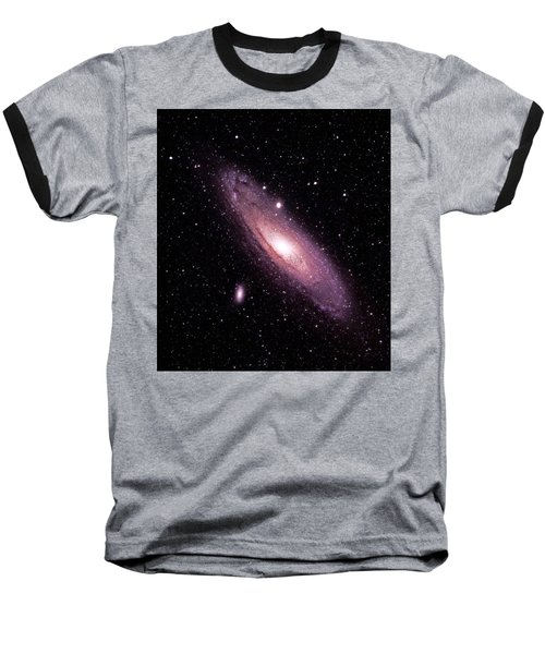 M31 Andromeda Galaxy Baseball T-Shirt