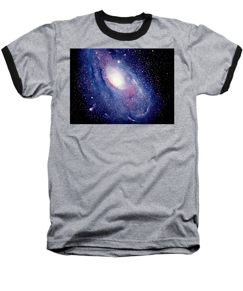 Andromeda Galaxy Baseball T-Shirt
