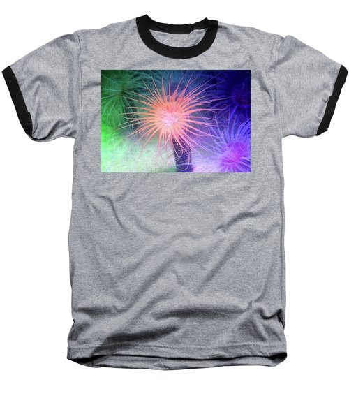 Baseball T-Shirt featuring the photograph Anemone Color by Anthony Jones