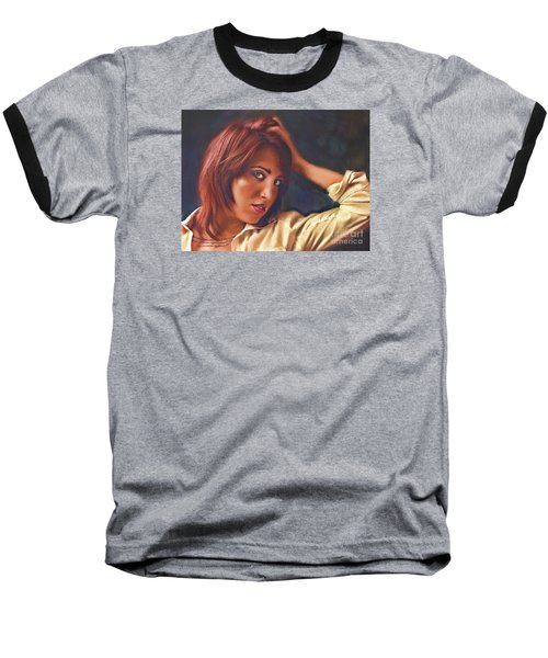 Baseball T-Shirt featuring the photograph Angel  No. 14... by Chuck Caramella