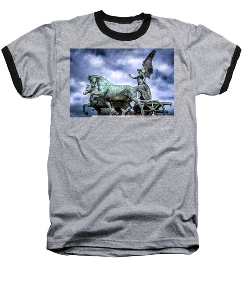 Angel And Chariot With Horses Baseball T-Shirt by Sonny Marcyan