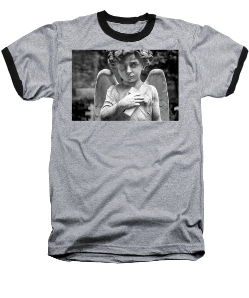 Angel And Cross Baseball T-Shirt