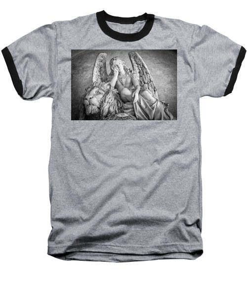 Angel And Lion Baseball T-Shirt by Sonny Marcyan