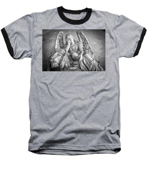 Angel And Lion Baseball T-Shirt