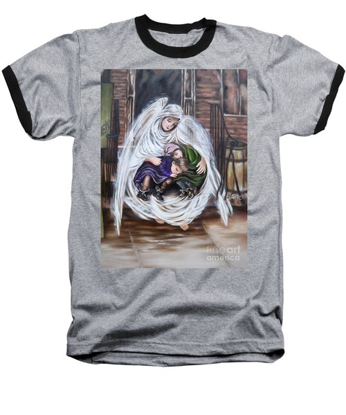 Flying Lamb Productions.        Angel And The Orphans Baseball T-Shirt