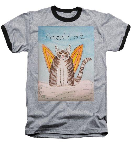 Angel Cat Baseball T-Shirt