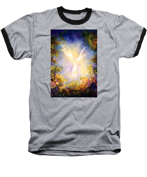 Angel Descending Baseball T-Shirt by Marina Petro