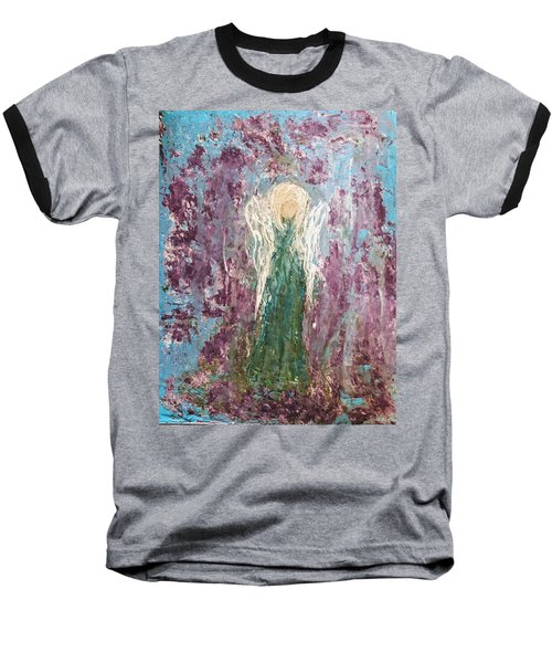 Angel Draped In Hydrangeas Baseball T-Shirt