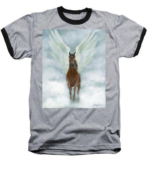 Angel Horse Running Free Across The Heavens Baseball T-Shirt