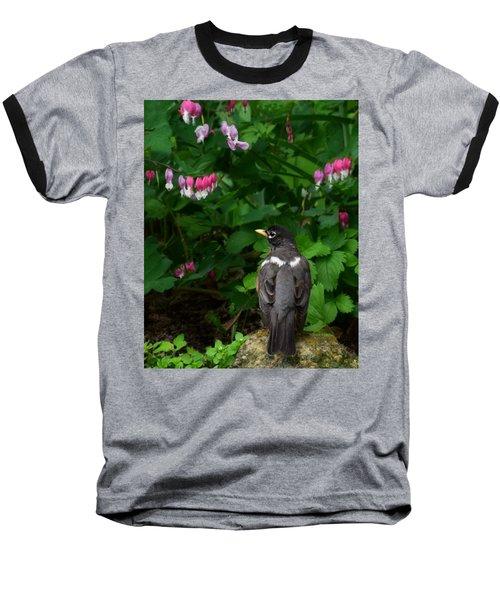 Angel In The Garden Baseball T-Shirt