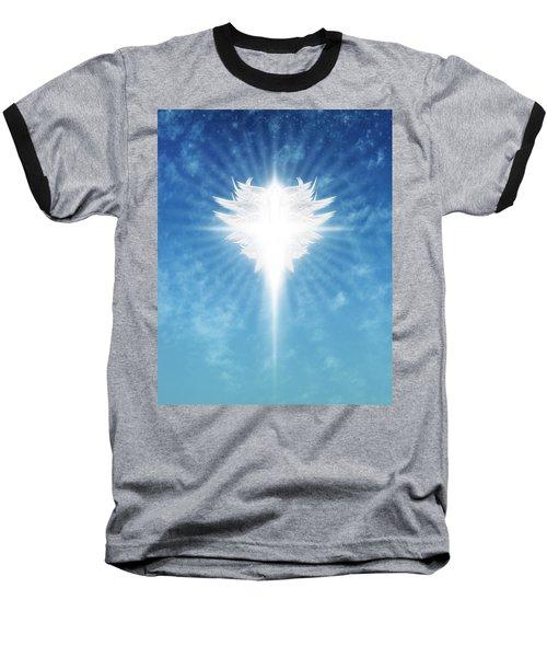 Angel In The Sky Baseball T-Shirt by James Larkin