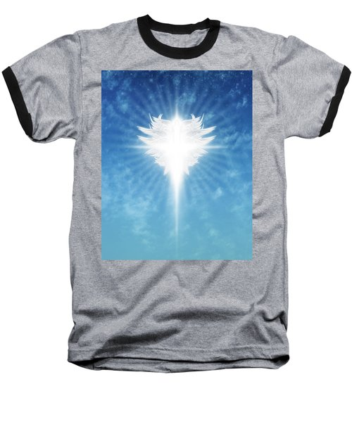 Angel In The Sky Baseball T-Shirt