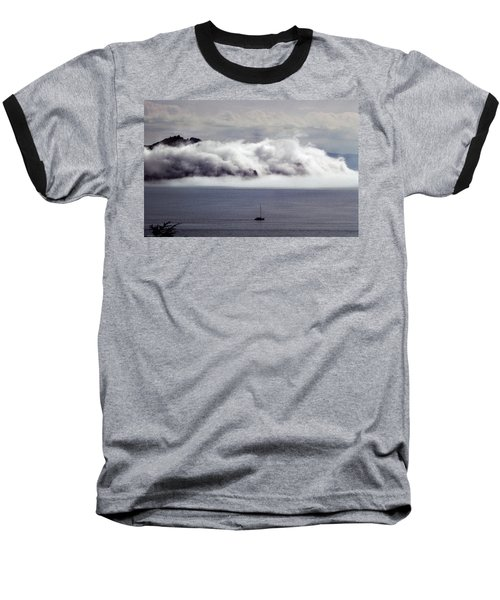 Baseball T-Shirt featuring the photograph Angel Island Fog by Frank DiMarco