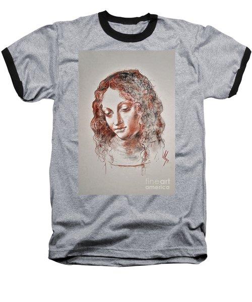 Angel Madonna Baseball T-Shirt by Maja Sokolowska