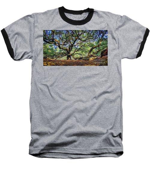 Angel Oak In Digital Oils Baseball T-Shirt