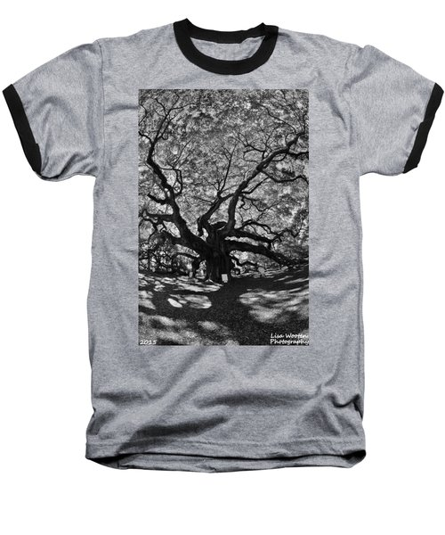 Angel Oak Johns Island Black And White Baseball T-Shirt