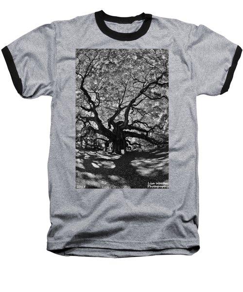 Angel Oak Johns Island Black And White Baseball T-Shirt
