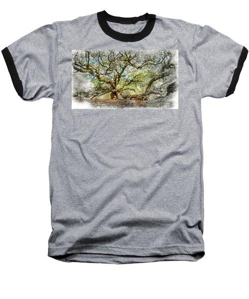 Angel Oak Mixed Media Baseball T-Shirt