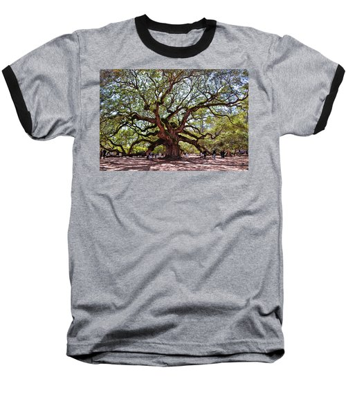 Angel Oak Tree 009 Baseball T-Shirt by George Bostian