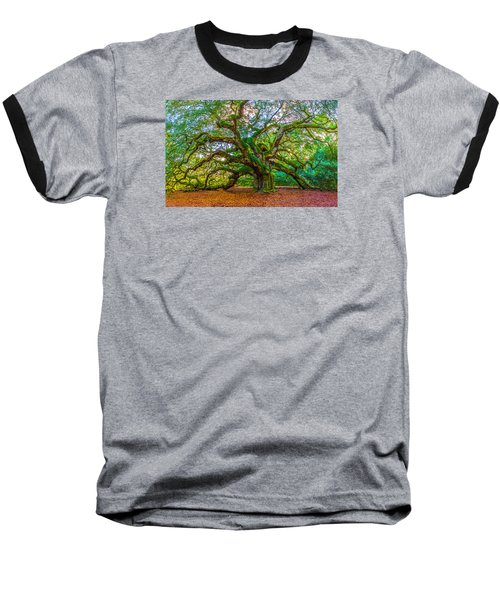 Angel Oak Tree Charleston Sc Baseball T-Shirt by John McGraw
