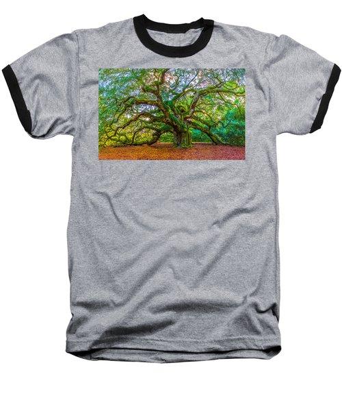 Angel Oak Tree Charleston Sc Baseball T-Shirt