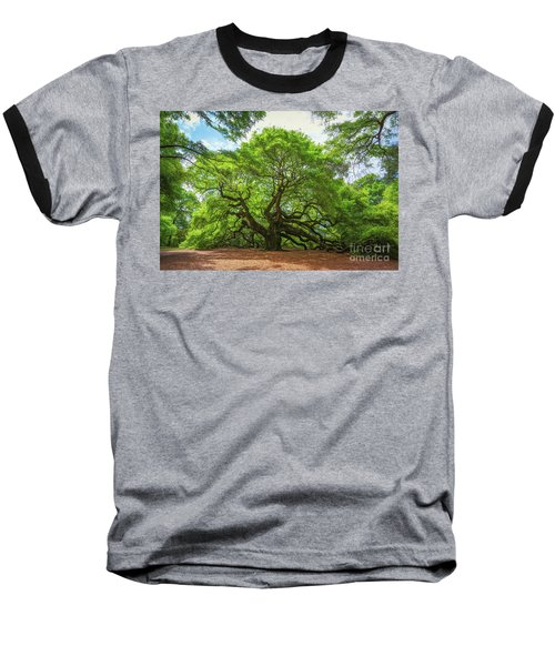 Angel Oak Tree In South Carolina  Baseball T-Shirt