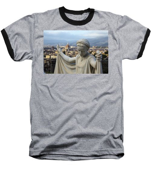 Angel Of Firenze Baseball T-Shirt by Sonny Marcyan