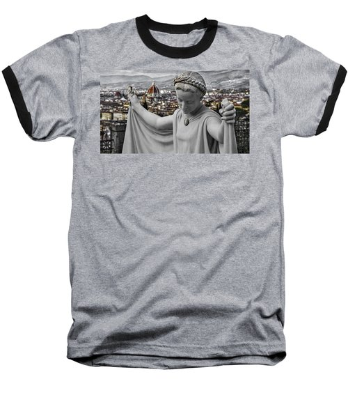 Baseball T-Shirt featuring the photograph Angel Of Florence by Sonny Marcyan