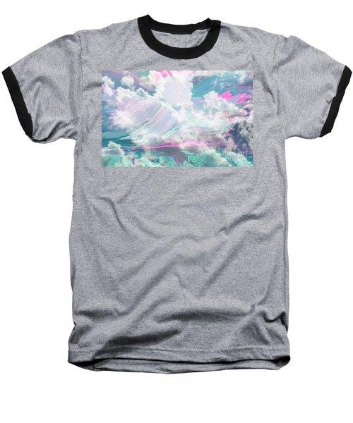 Angel Art Angel Of Peace And Healing Baseball T-Shirt by Sherri's Of Palm Springs