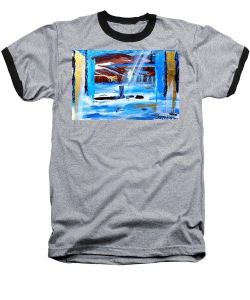 Angel Over Water Baseball T-Shirt