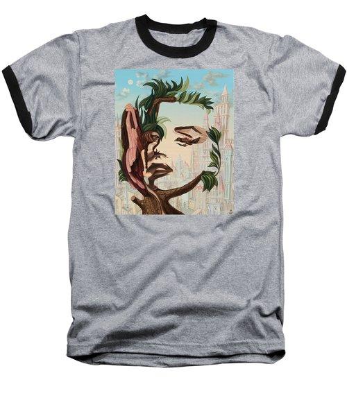 Angel, Watching The Reincarnation Of Marilyn Monroe On The Swinging City Towers Baseball T-Shirt