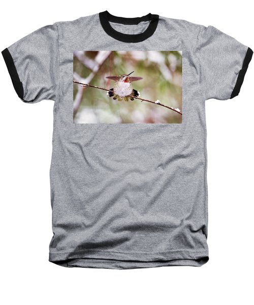 Angel Wings Baseball T-Shirt by Peggy Collins