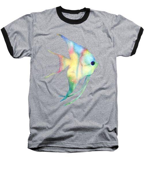 Angelfish I - Solid Background Baseball T-Shirt