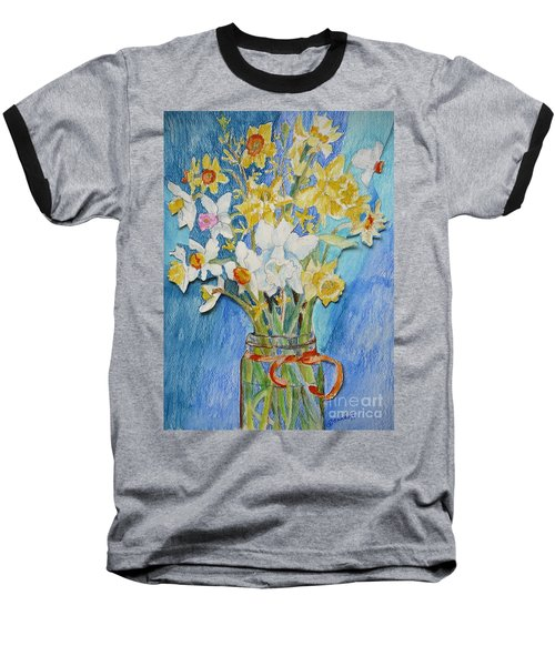 Angels Flowers Baseball T-Shirt