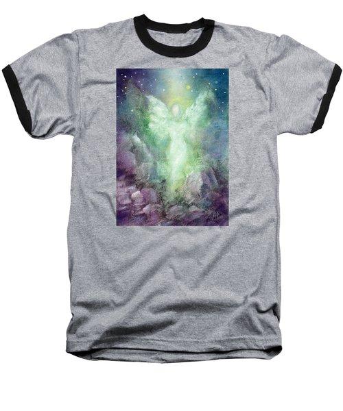 Angels Journey Baseball T-Shirt by Marina Petro