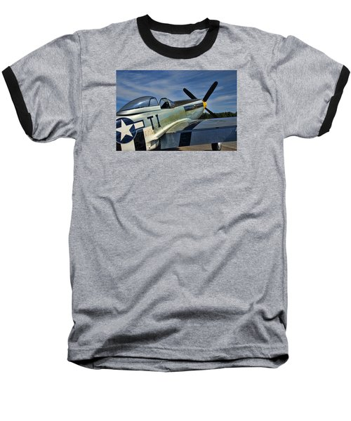 Baseball T-Shirt featuring the photograph Angels Playmate P-51 by Steven Richardson