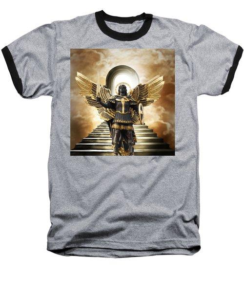 Baseball T-Shirt featuring the digital art Angels Watching Over Me by Karen Showell