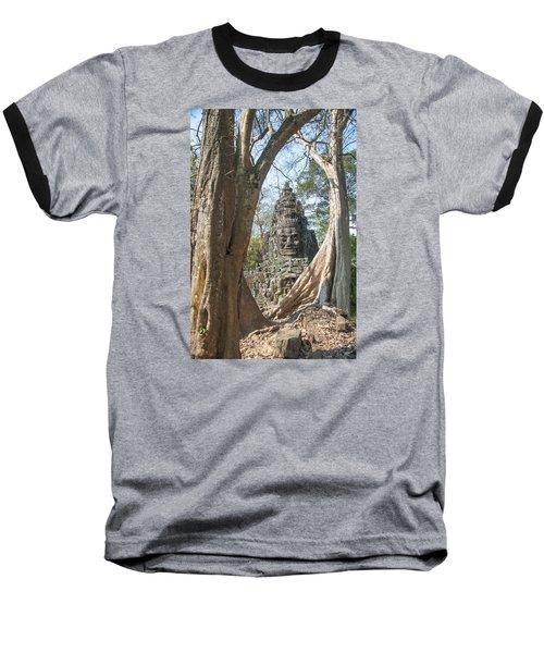 Baseball T-Shirt featuring the photograph Angkor Thom South Gate by Rob Hemphill