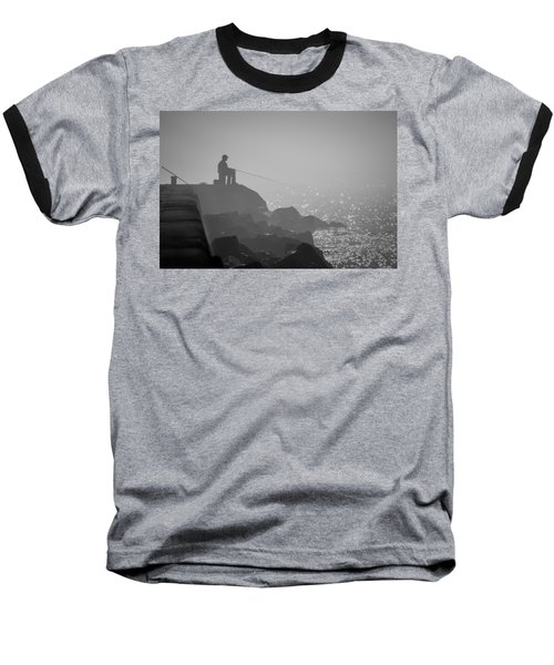 Angling In A Fog  Baseball T-Shirt