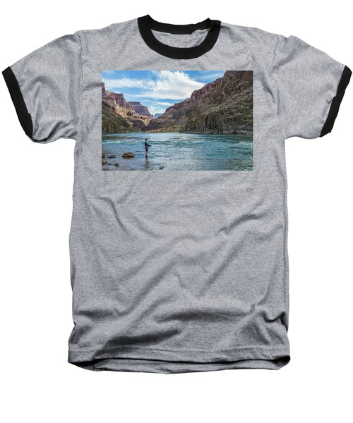 Baseball T-Shirt featuring the photograph Angling On The Colorado by Alan Toepfer