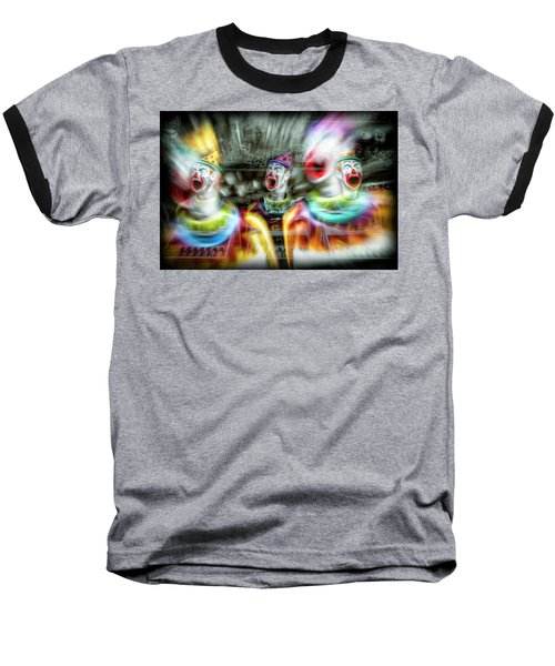 Baseball T-Shirt featuring the photograph Angry Clowns by Wayne Sherriff