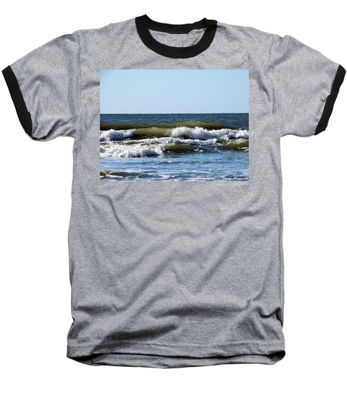 Angry Sea Baseball T-Shirt by Cathy Harper