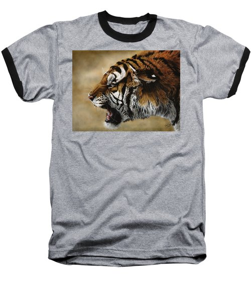 Angry Siberian Baseball T-Shirt