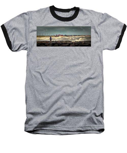 Angry Surf At Indian River Inlet Baseball T-Shirt