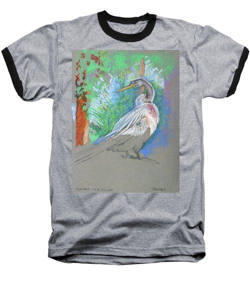 Anhinga Sarasota Plein Air Baseball T-Shirt