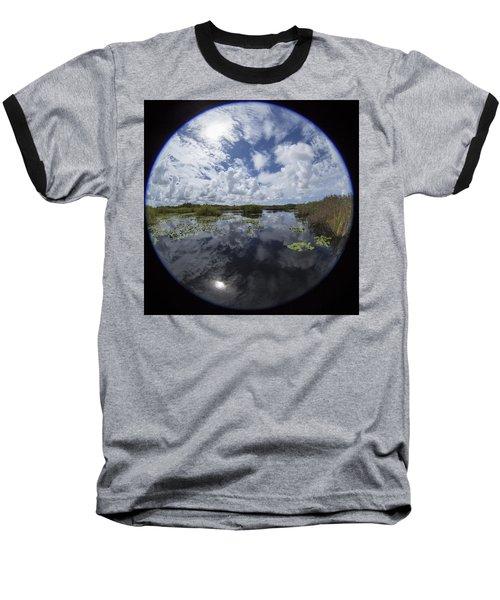 Anhinga Trail 86 Baseball T-Shirt by Michael Fryd