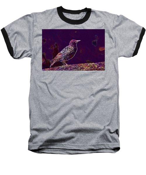 Baseball T-Shirt featuring the digital art Animal Avian Bird Feathers Nature  by PixBreak Art