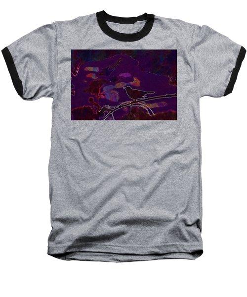 Baseball T-Shirt featuring the digital art Animal Bird Dark Nature Silhouette  by PixBreak Art