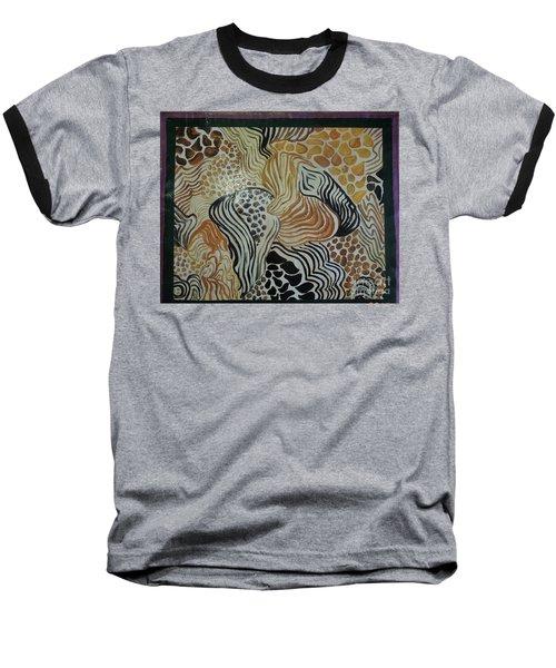 Animal Print Floor Cloth Baseball T-Shirt by Judith Espinoza